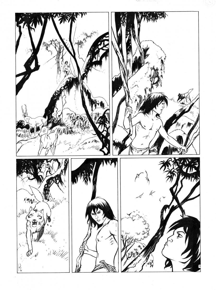 Dessin Original Bd Le Dernier Livre De La Jungle Planche