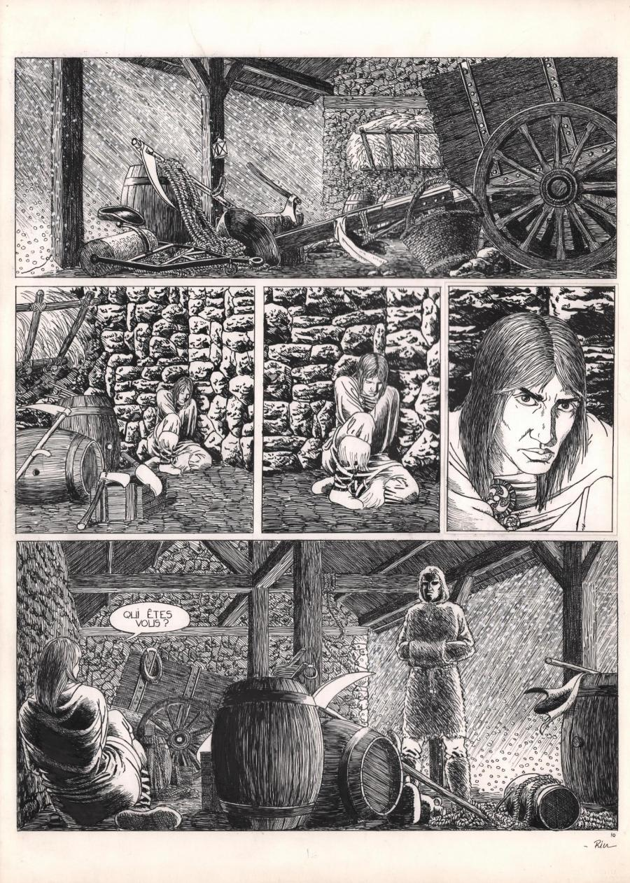 Comics illustration, Napoleon Gallery : miscellaneous - Original comic page 10 of Solitudes by Michel RIU - 10