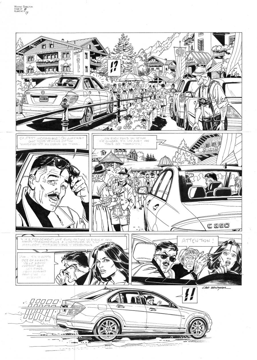 Original comic page 17 from WAYNE SHELTON Issue 8 - La nuit des aigles by Christian DENAYER