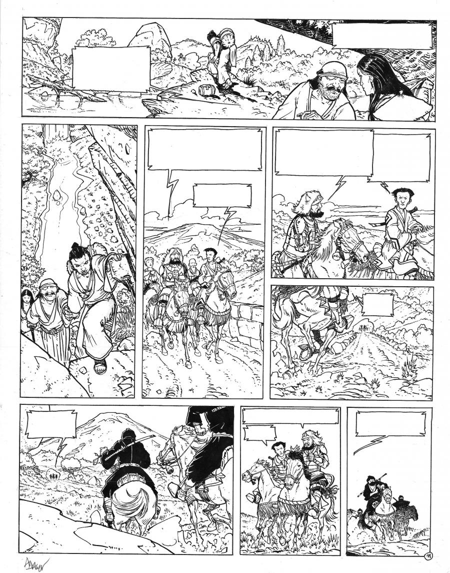 Original comic Page 19, Issue 5 from Le vent des dieux by Philippe ADAMOV