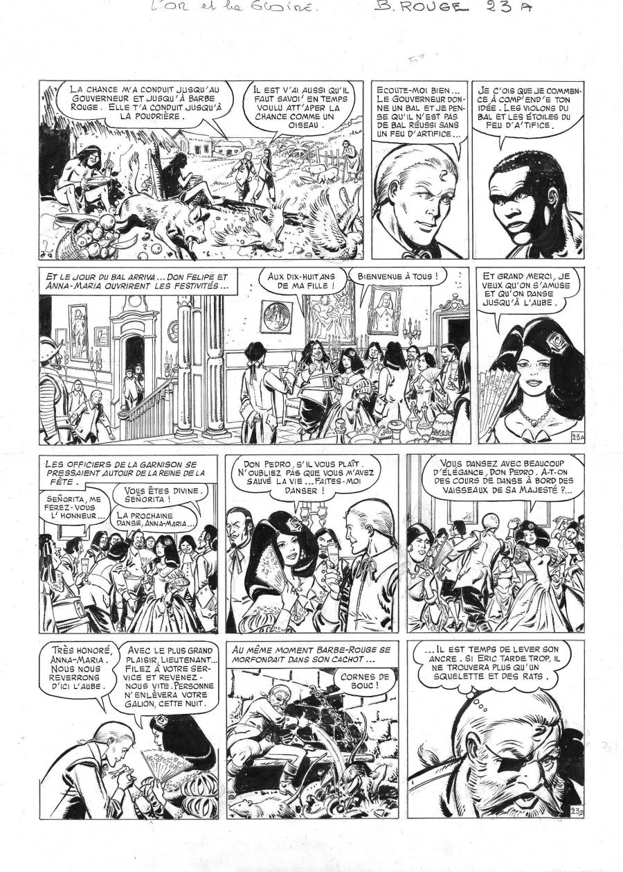 Original comic page 23 from BARBE ROUGE - Issue  30. L'or et la gloire