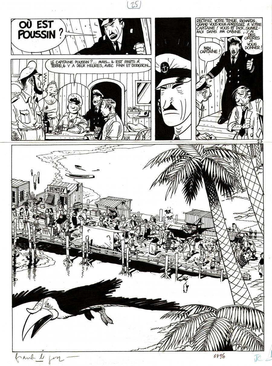 Original comic page 25 from Theodore Poussin issue 3 part 2 by Frank LE GALL
