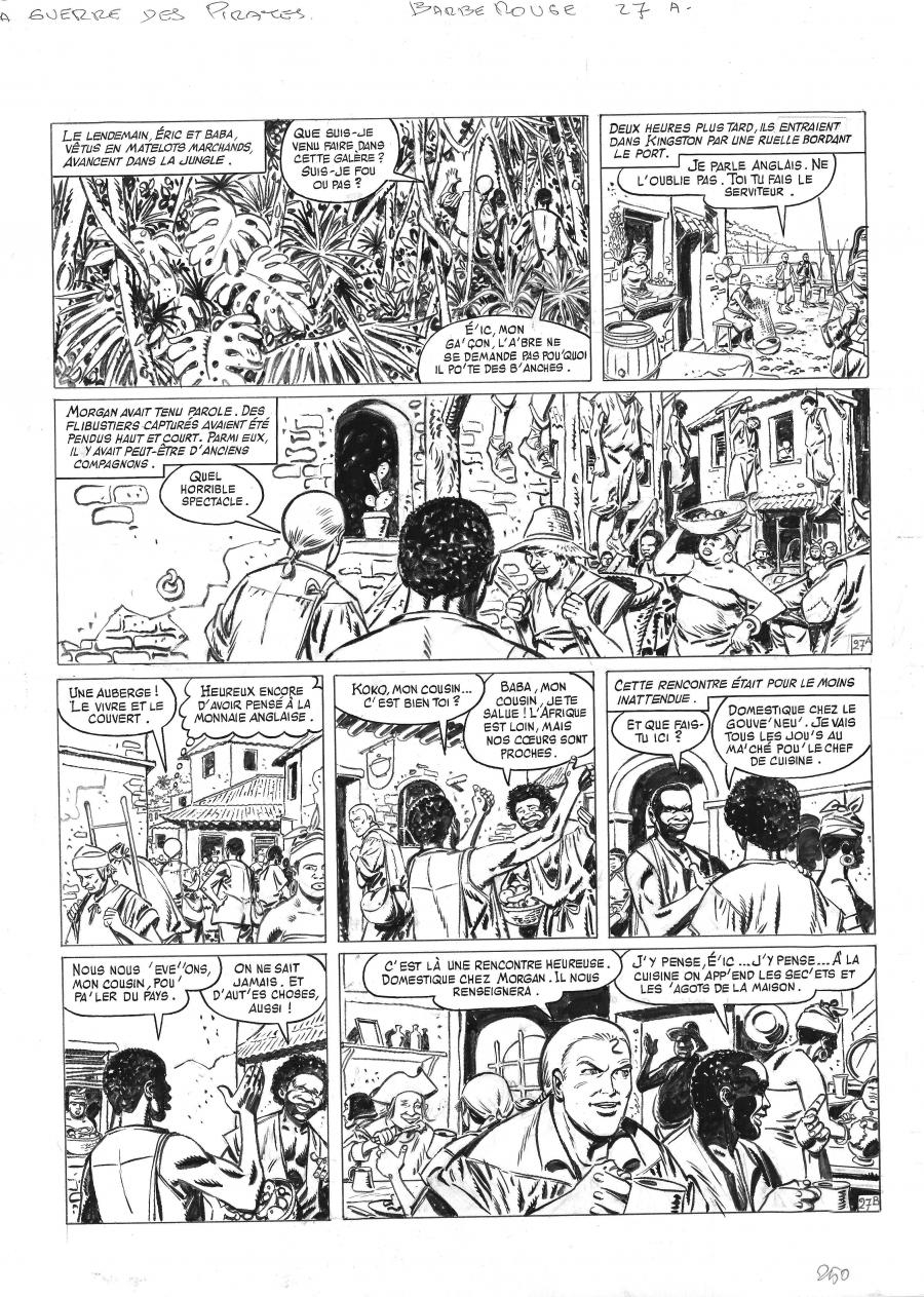 Original comic page 27 from BARBE ROUGE - Issue 31. La guerre des pirates