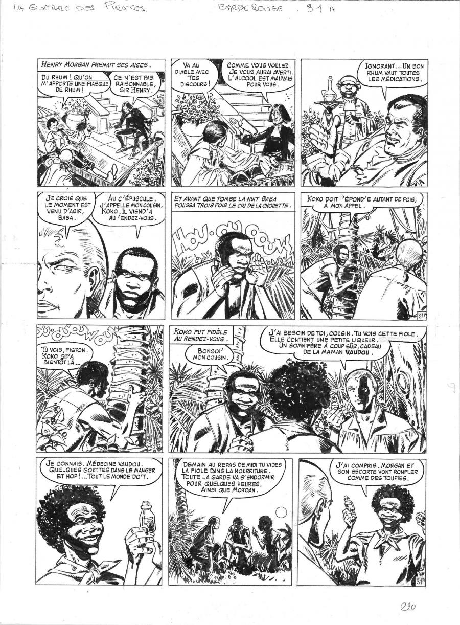 Original comic page 31 from BARBE ROUGE - Issue 31. La guerre des pirates