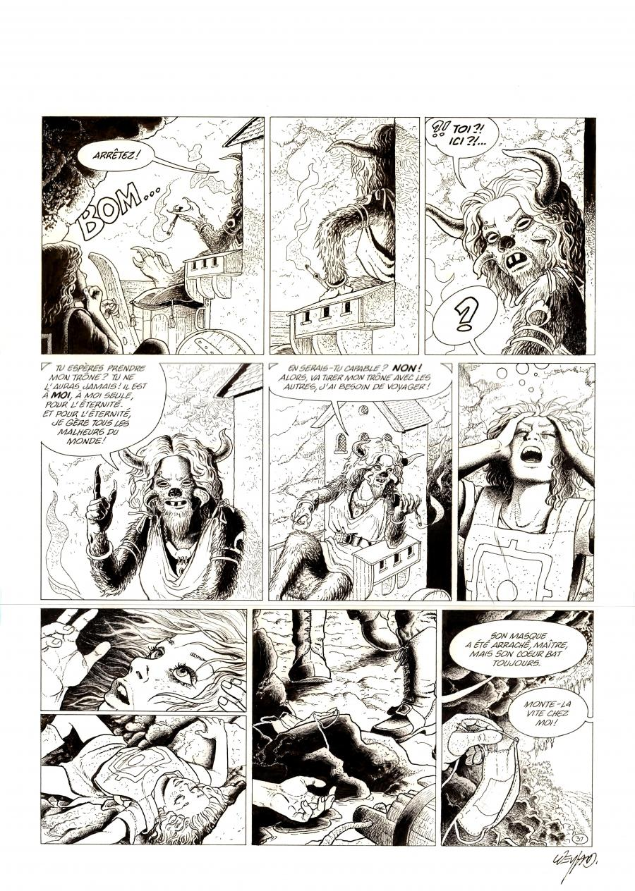 Original comic page 31 from ARIA Issue 38 by Michel WEYLAND