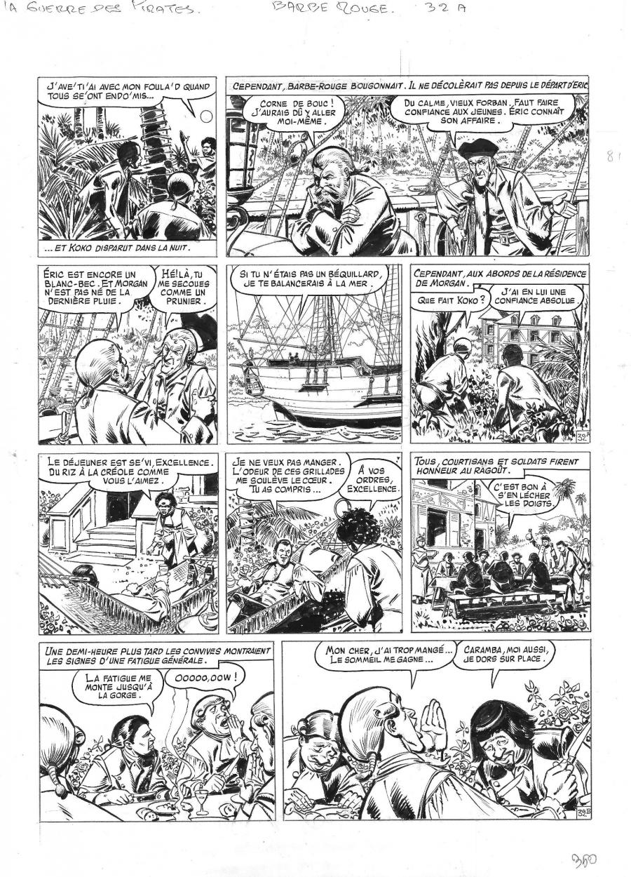 Original comic page 32 from BARBE ROUGE - Issue 31. La guerre des pirates