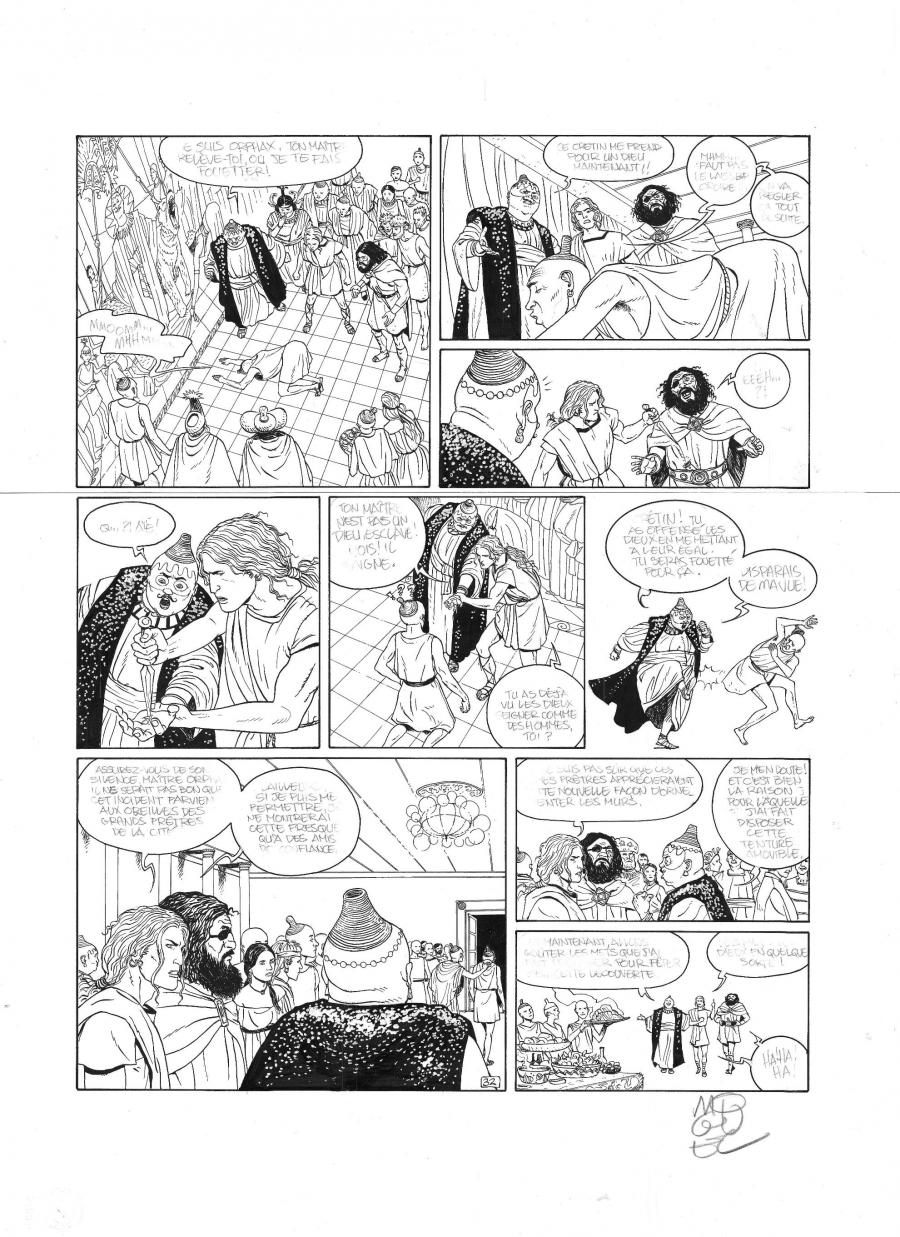 Original comic page 32 from MYRKOS by MIGUEL LALOR