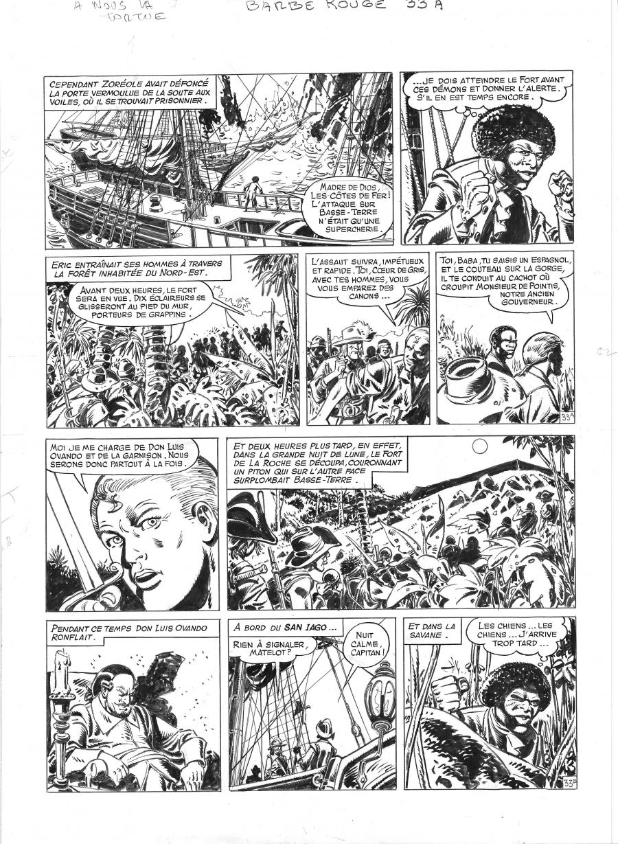 Comics illustration, Napoleon Gallery : BARBE ROUGE - Original comic page 33 from BARBE ROUGE - Issue 29. A nous la Tortue - 33