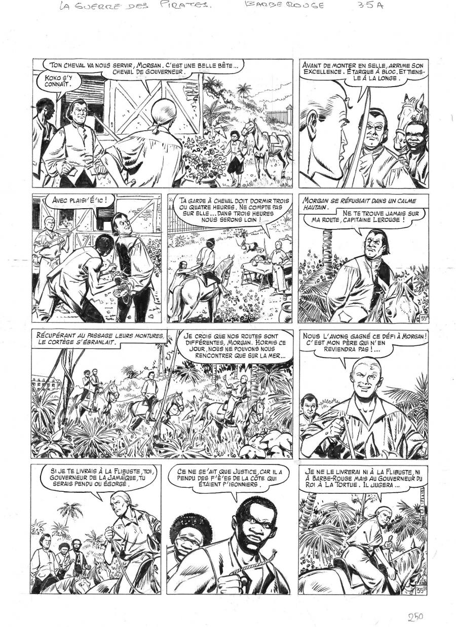 Original comic page 35 from BARBE ROUGE - Issue 31. La guerre des pirates