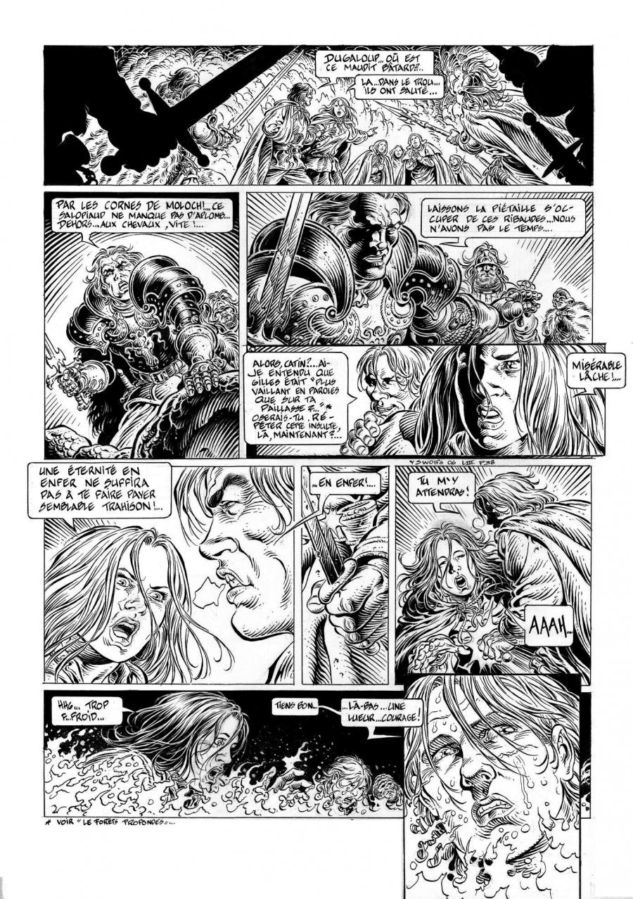 Original comic page 38 from LÉGENDE, Issue 3 - La grande battue by Yves SWOLFS