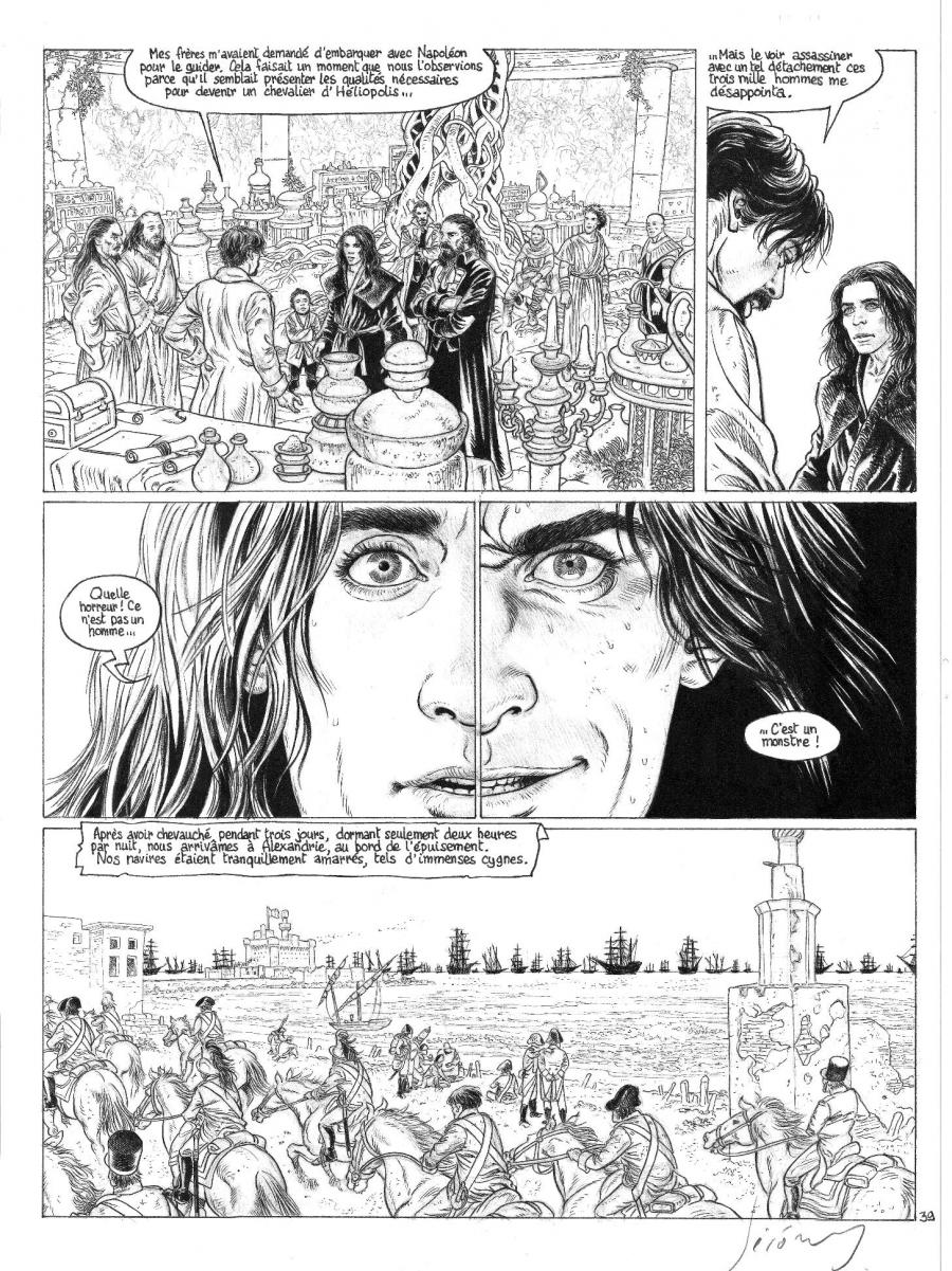 Original comic page 39 from LES CHEVALIERS D'HELIOPOLIS Issue 2 - Albedo, L'Oeuvre au blanc