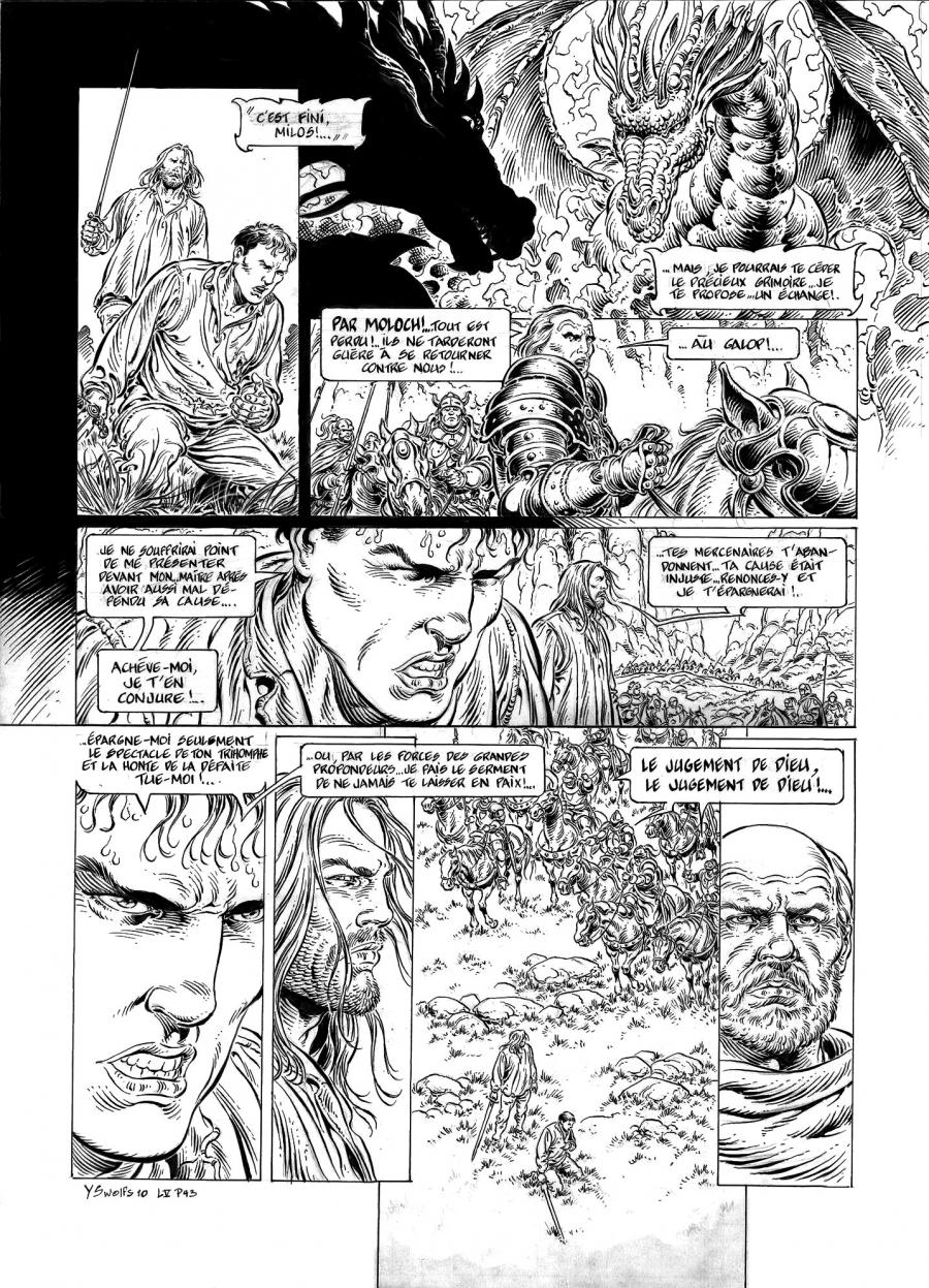 Original comic page 43 from LÉGENDE, Issue 5 - Hauteterres by Yves SWOLFS
