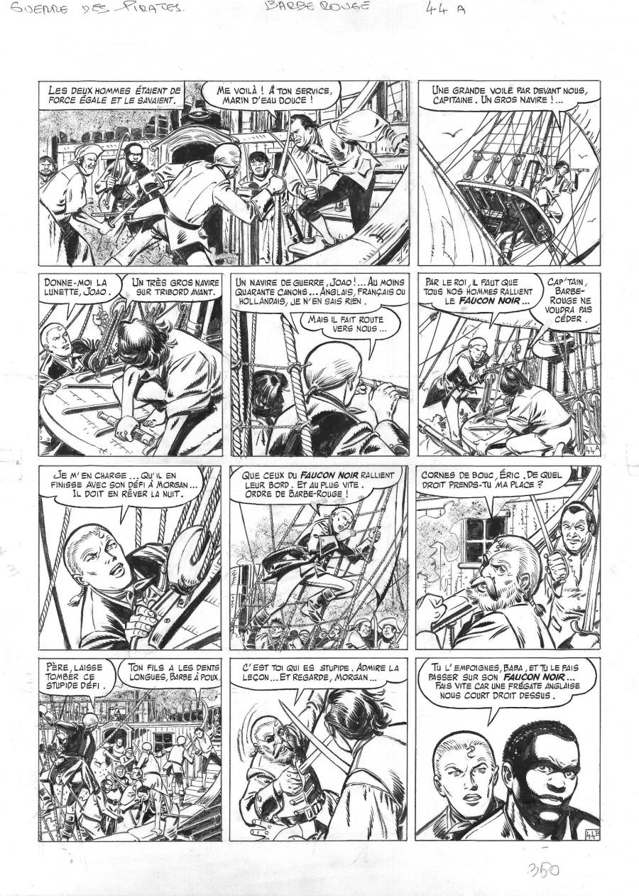 Original comic page 44 from BARBE ROUGE - Issue 31. La guerre des pirates