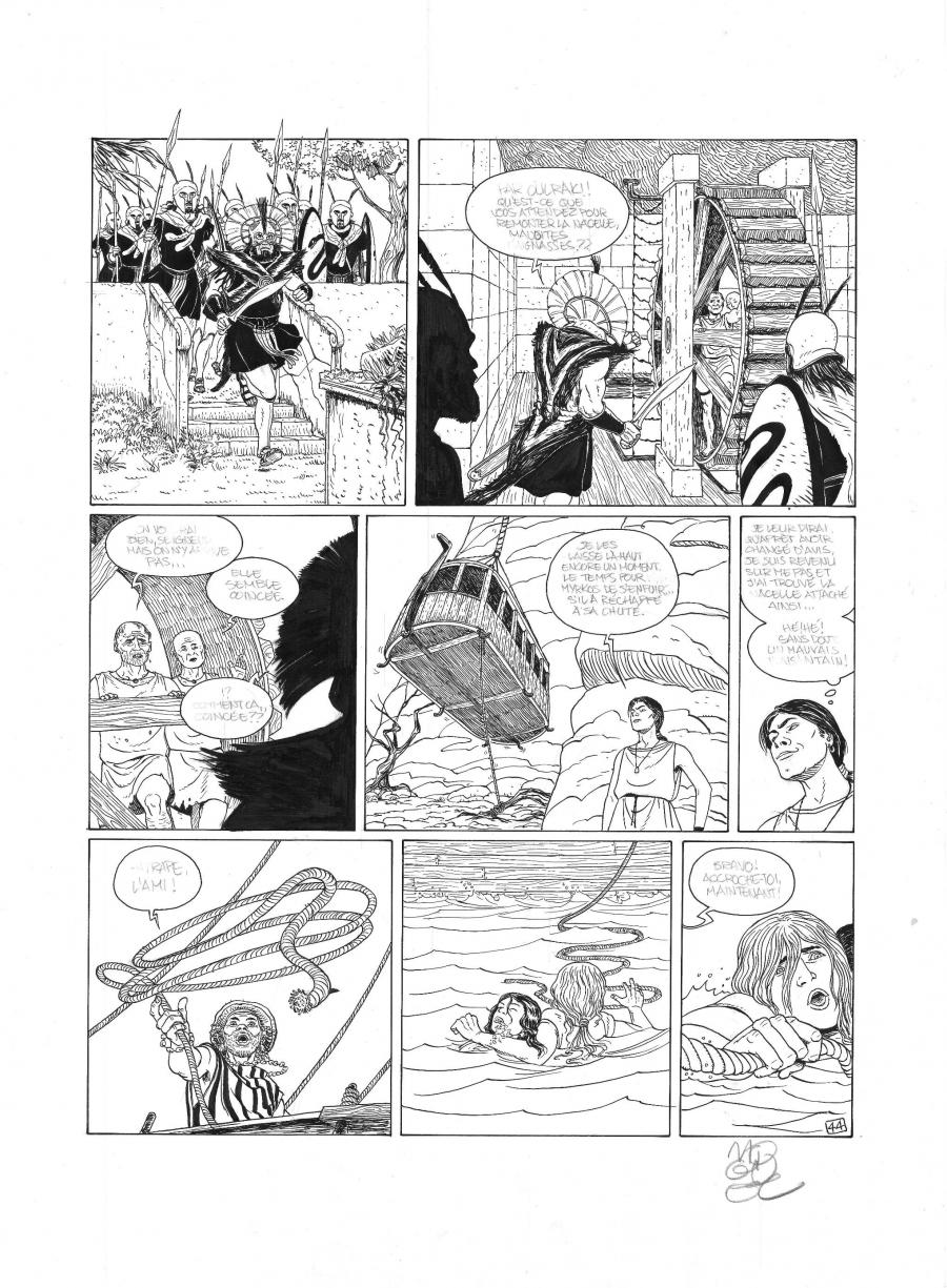 Original comic page 44 from MYRKOS by MIGUEL LALOR