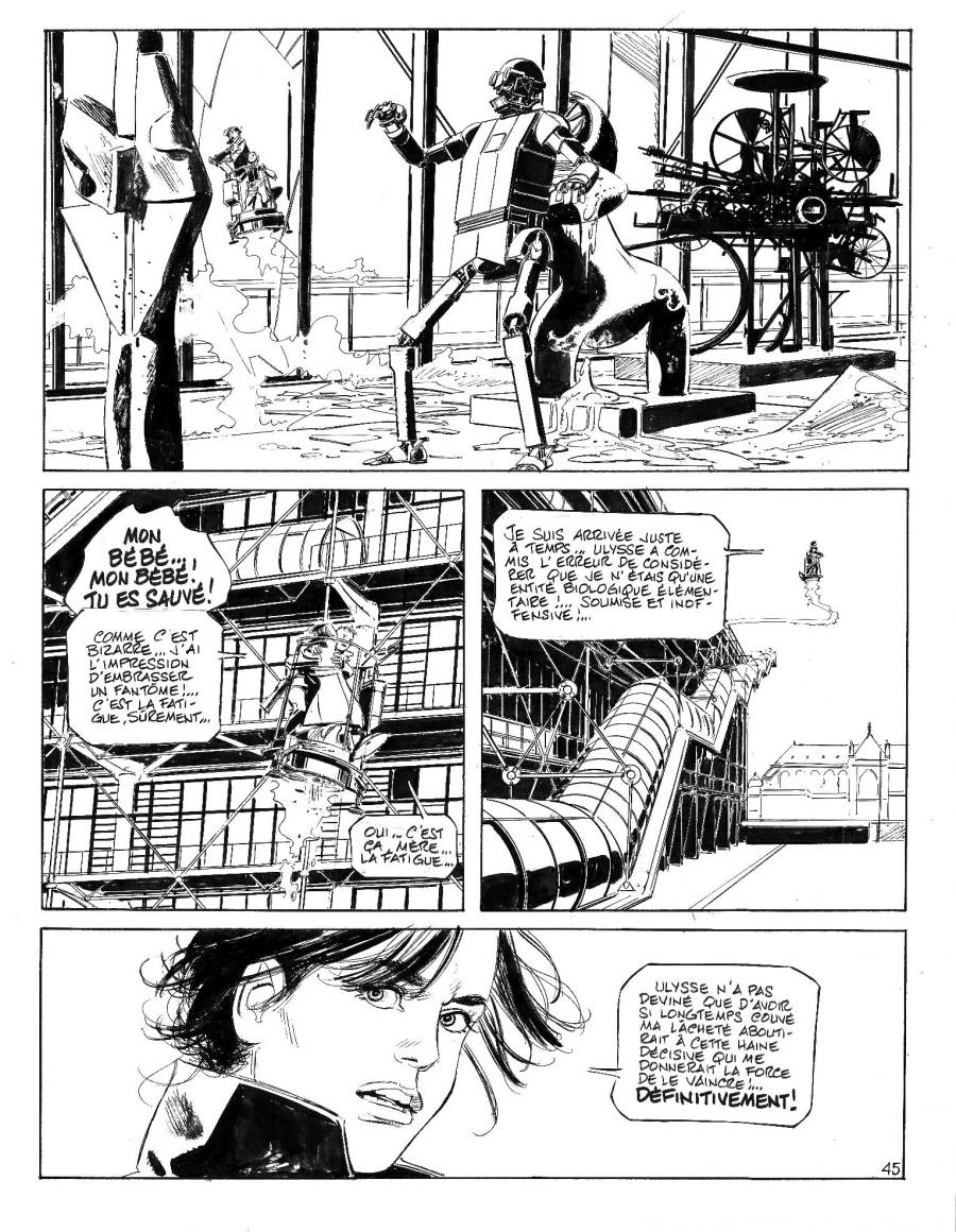 Original Comic page 45 from LA SURVIVANTE Issue 2 - L'héritier par Paul GILLON