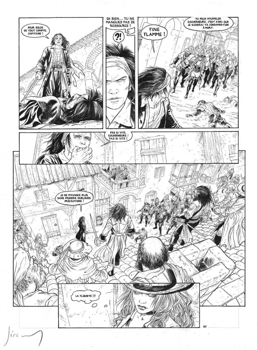 Original comic page 50 from BARRACUDA vol 5 by JEREMY