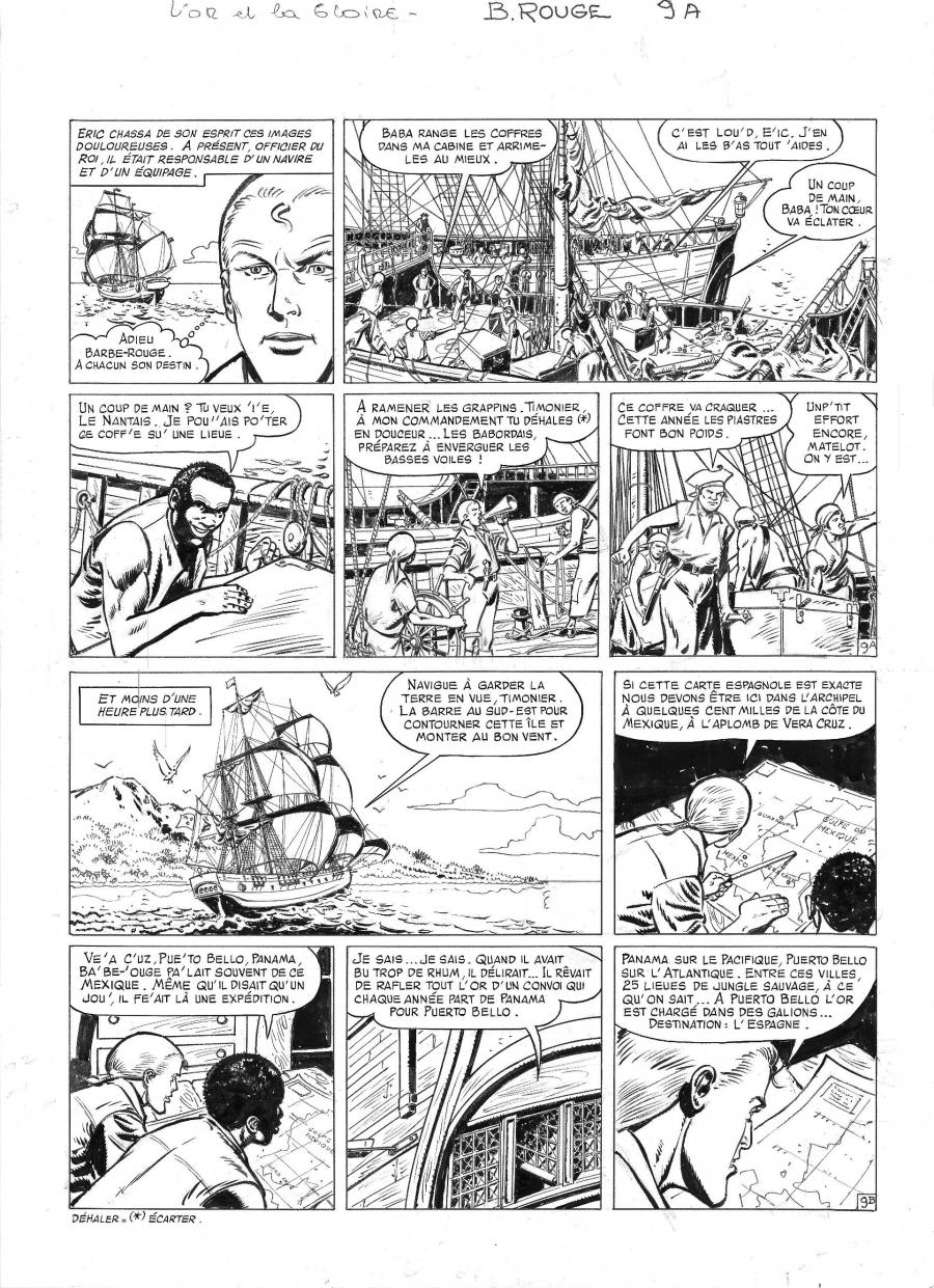 Original comic page 9 from BARBE ROUGE - Issue  30. L'or et la gloire