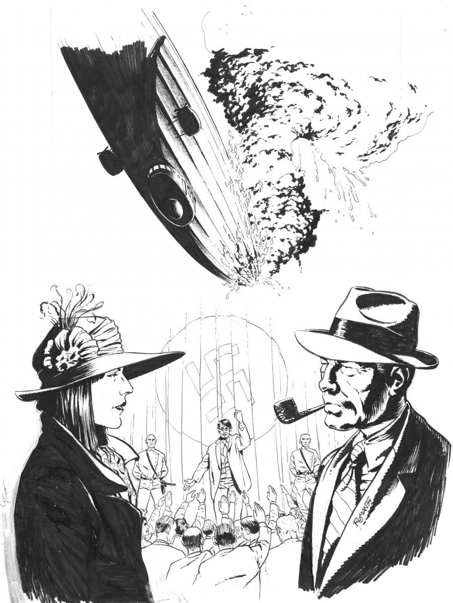 Original cover page for Harry Dickson comics series