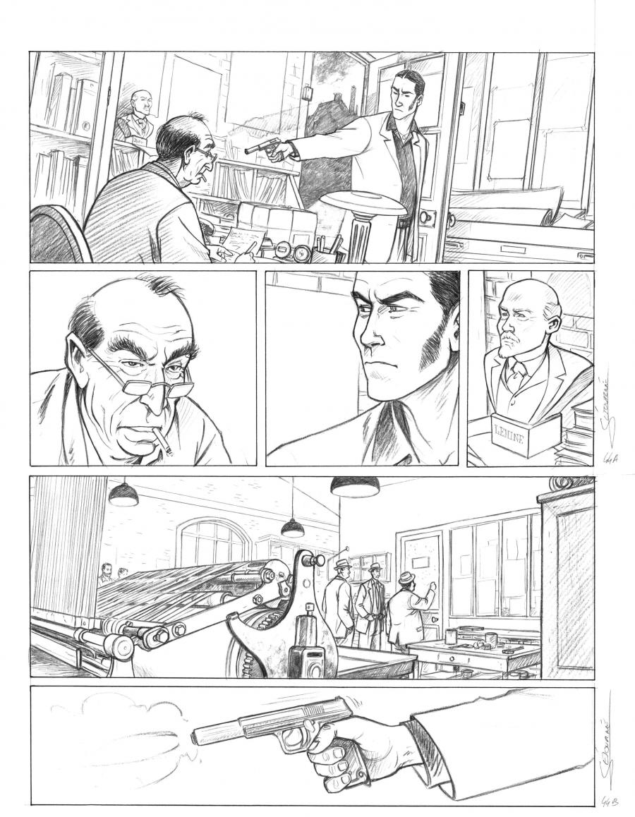 Original comic art 19 of JOUR J issue 19 : La vengeance de Jaurès by Gaël SEJOURNE