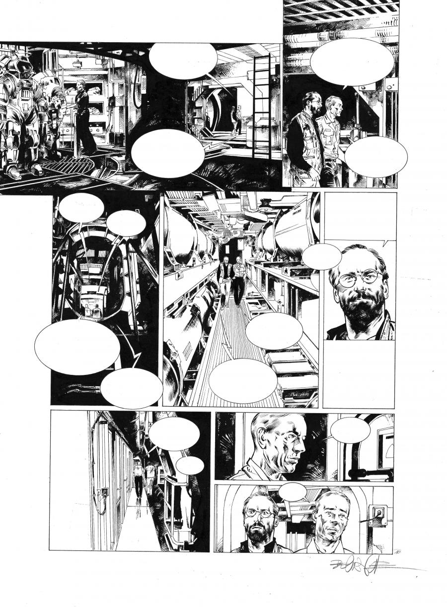 Original comic page 10 Issue 1 from Sanctuaire, USS Nebraska  by Christophe BEC