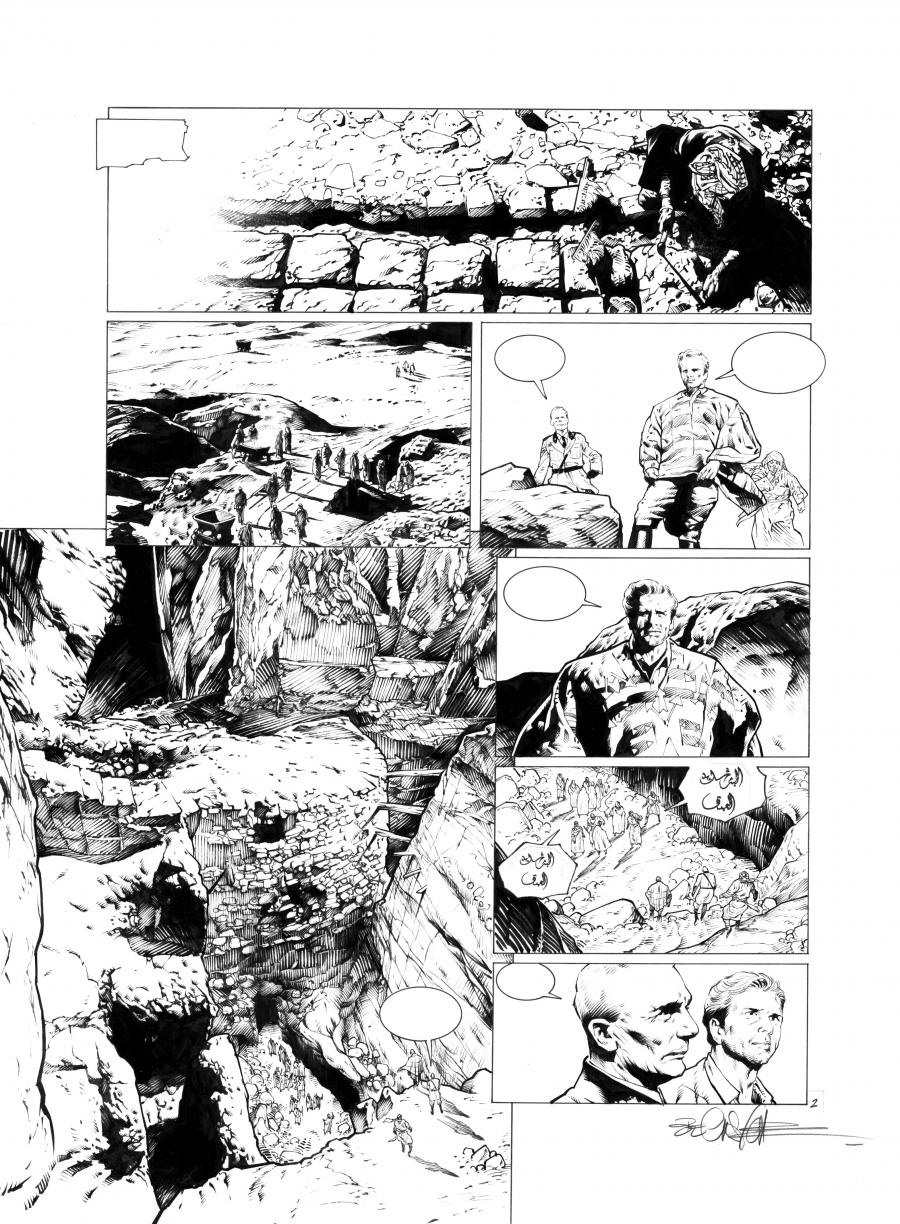 Original comic page 2  Issue 3 from Sanctuaire, Môth  by Christophe BEC