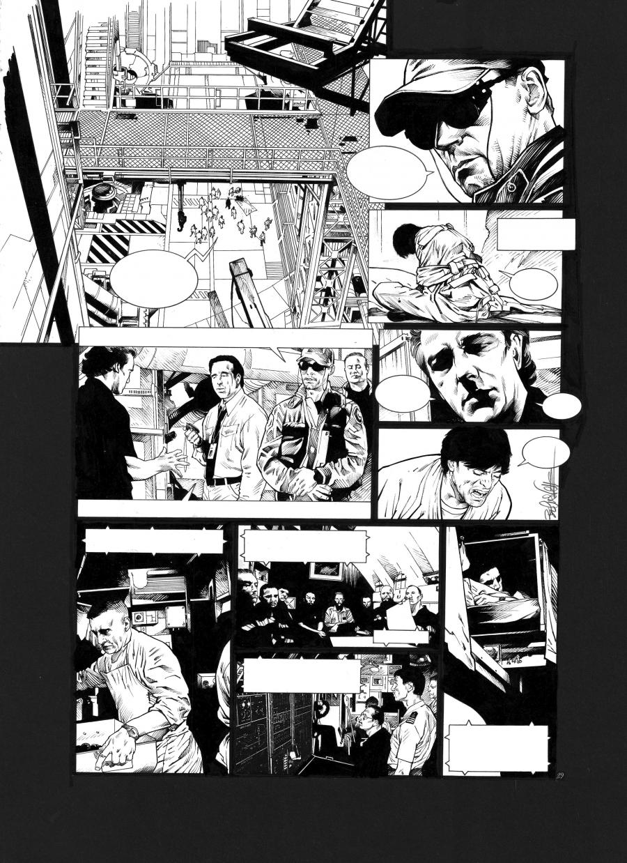 Original comic page 29 Issue 2 from Sanctuaire, Le puits des abîmes by Christophe BEC
