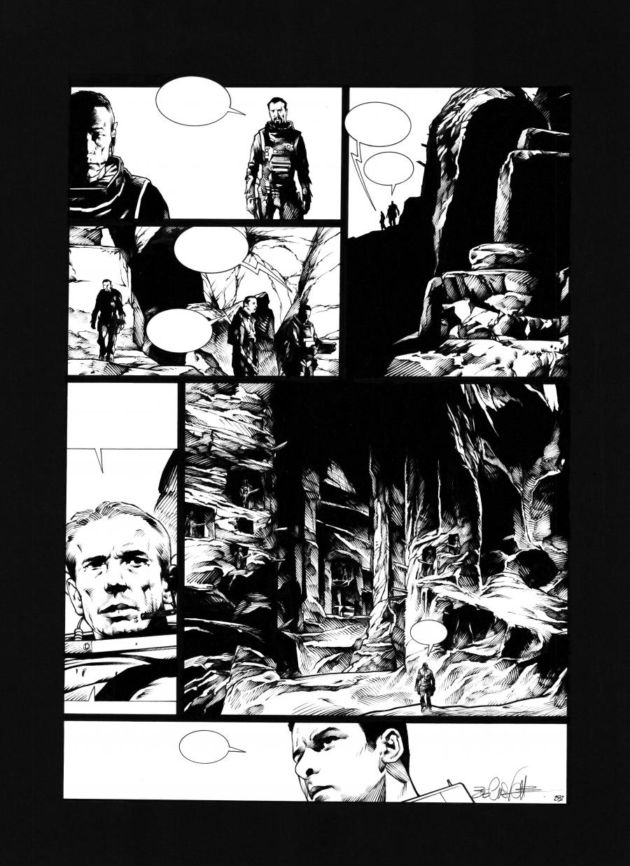 Original comic page 52 Issue 2 from Sanctuaire, Le puits des abîmes by Christophe BEC