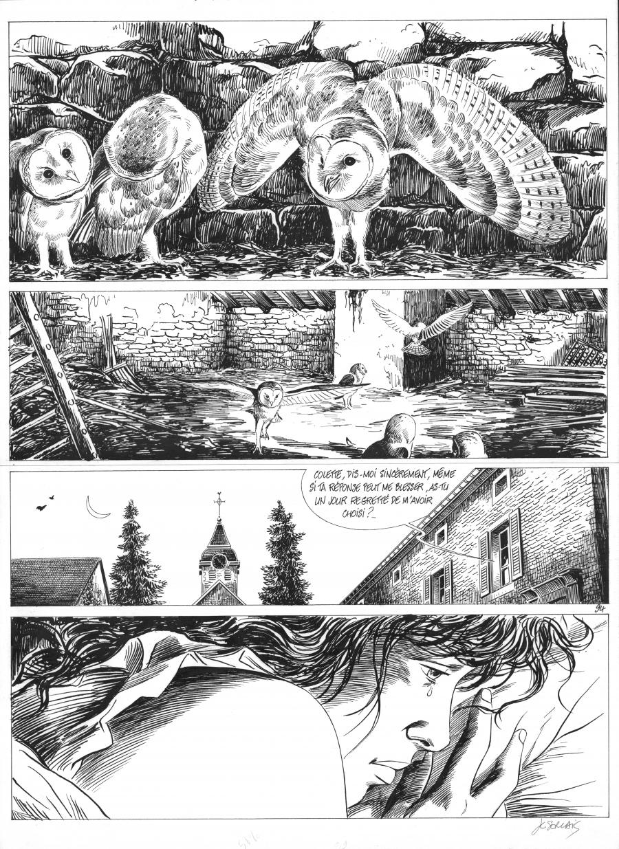 Original comic page 94 from ASSASSIN QUI PARLE AUX OISEAUX Issue 2 by Jean-Claude SERVAIS