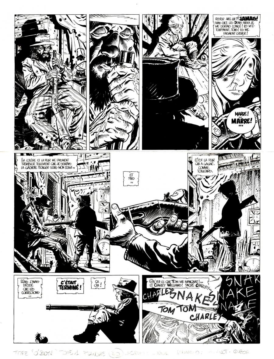Original comic page 30 from O'BOYS Issue 1 - Le Sang du Mississippi par Steve CUZOR