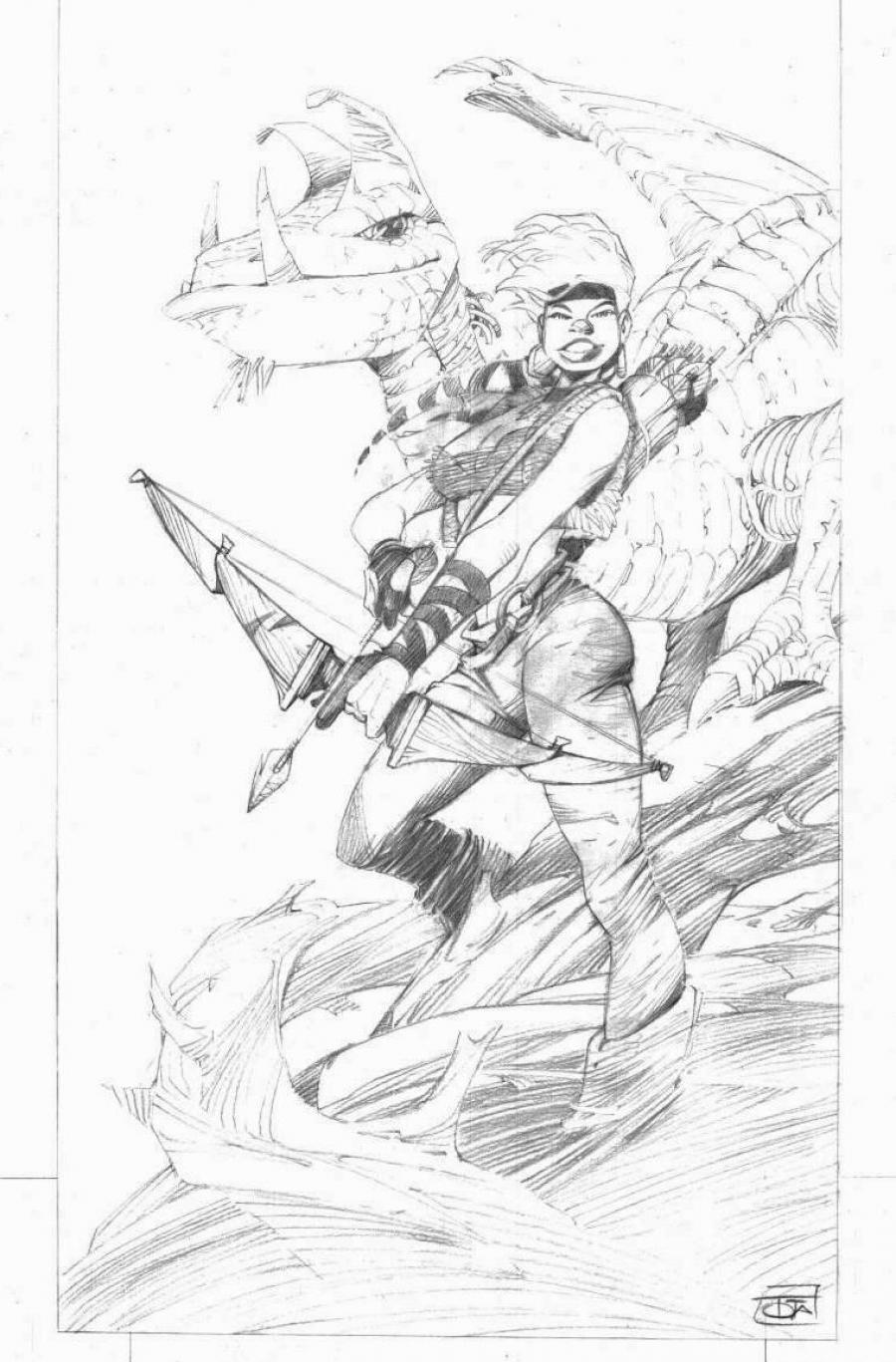 Original comic art for a poster from LES CONQUERANTS DE TROY by TOTA