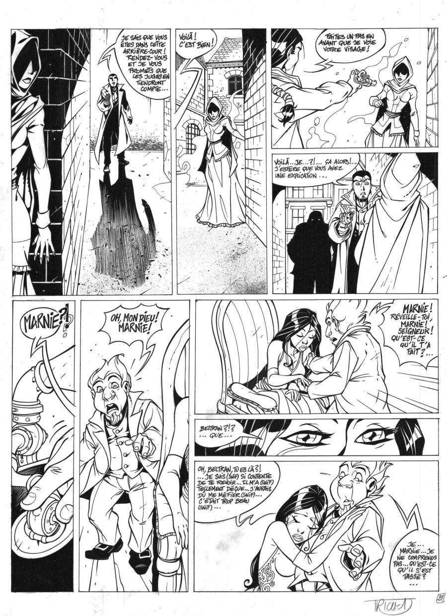 Original art page 27 issue 3 from Les Arcanes du midi-Minuit