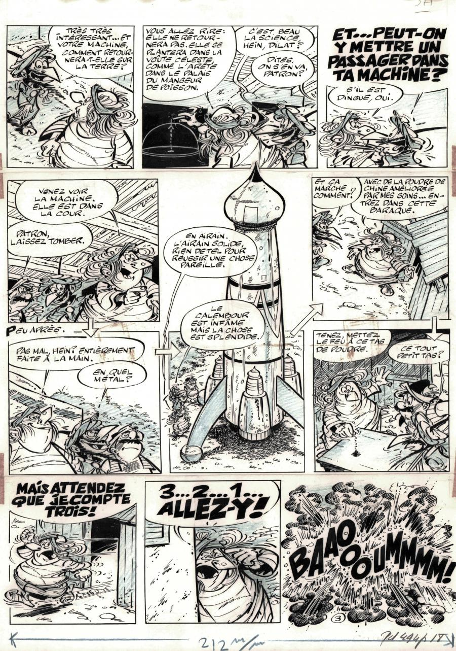 Original comic page 3 from IZNOGOUD issue 5 by Jean TABARY, a scenario by GOSCINNY