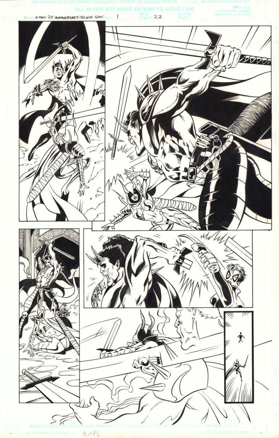 Original comic page 22 of X MEN BLACK SUN Issue 1 by Tom DERENICK