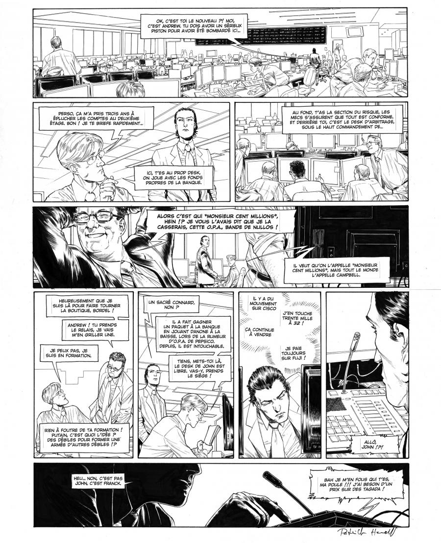 HENAFF's original comic art from HEDE FUND Issue 1, Page 25