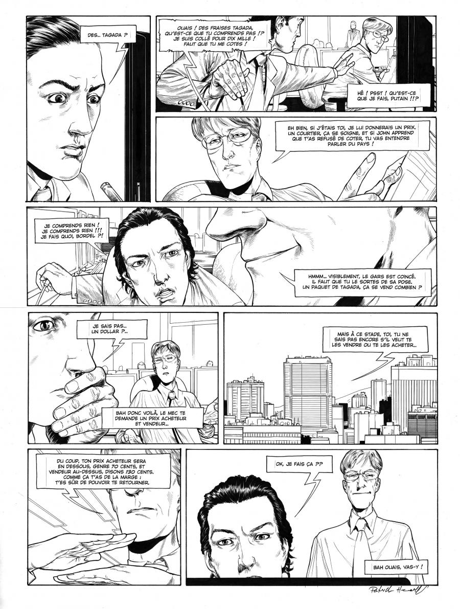 HENAFF's original comic art from HEDE FUND Issue 1, Page 26