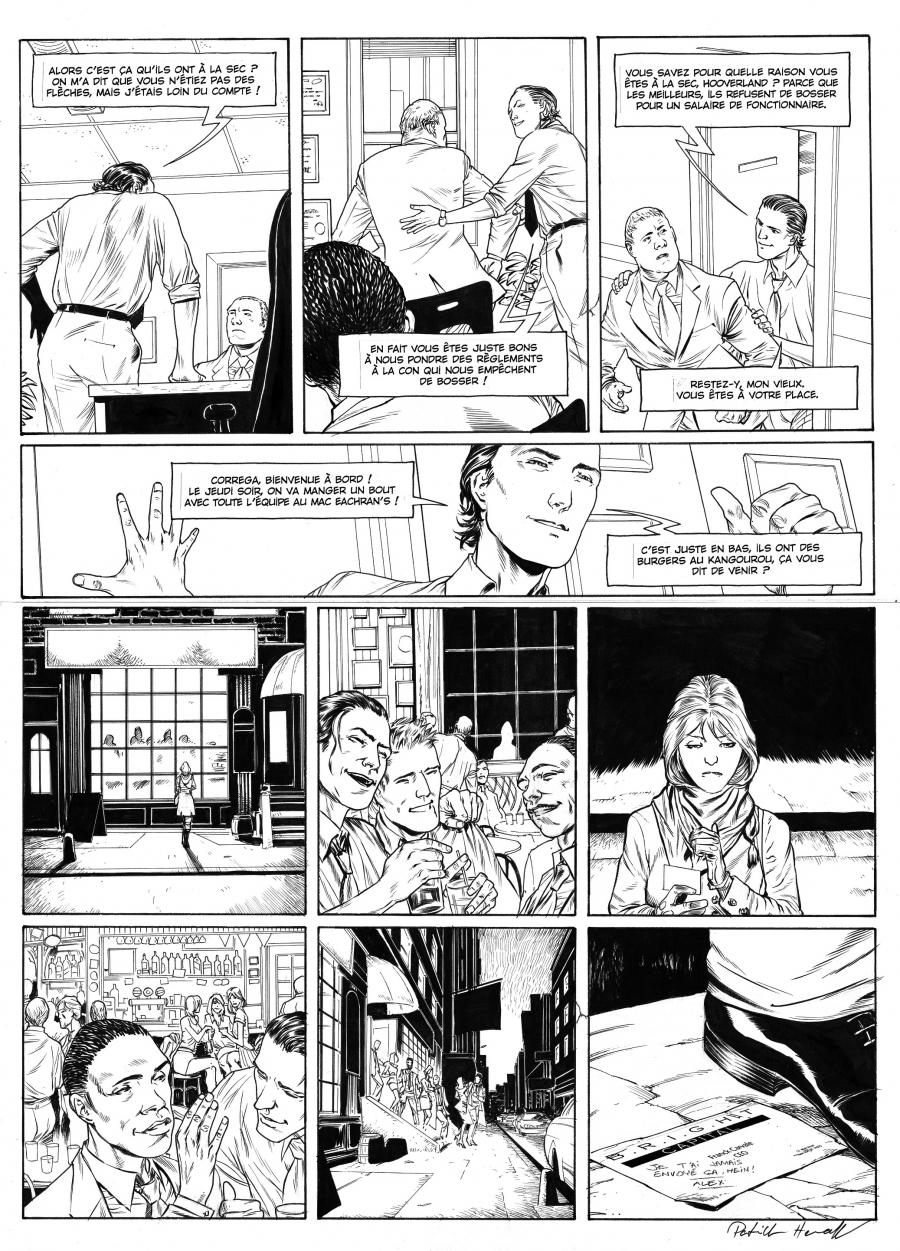 HENAFF's original comic art from HEDE FUND Issue 2, Page 13
