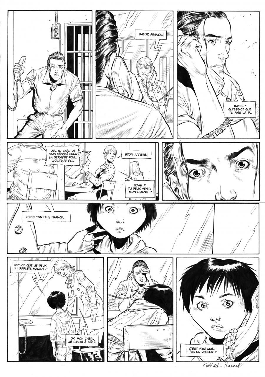 Original comic page 9  Issue 3 by Patrick Henaff