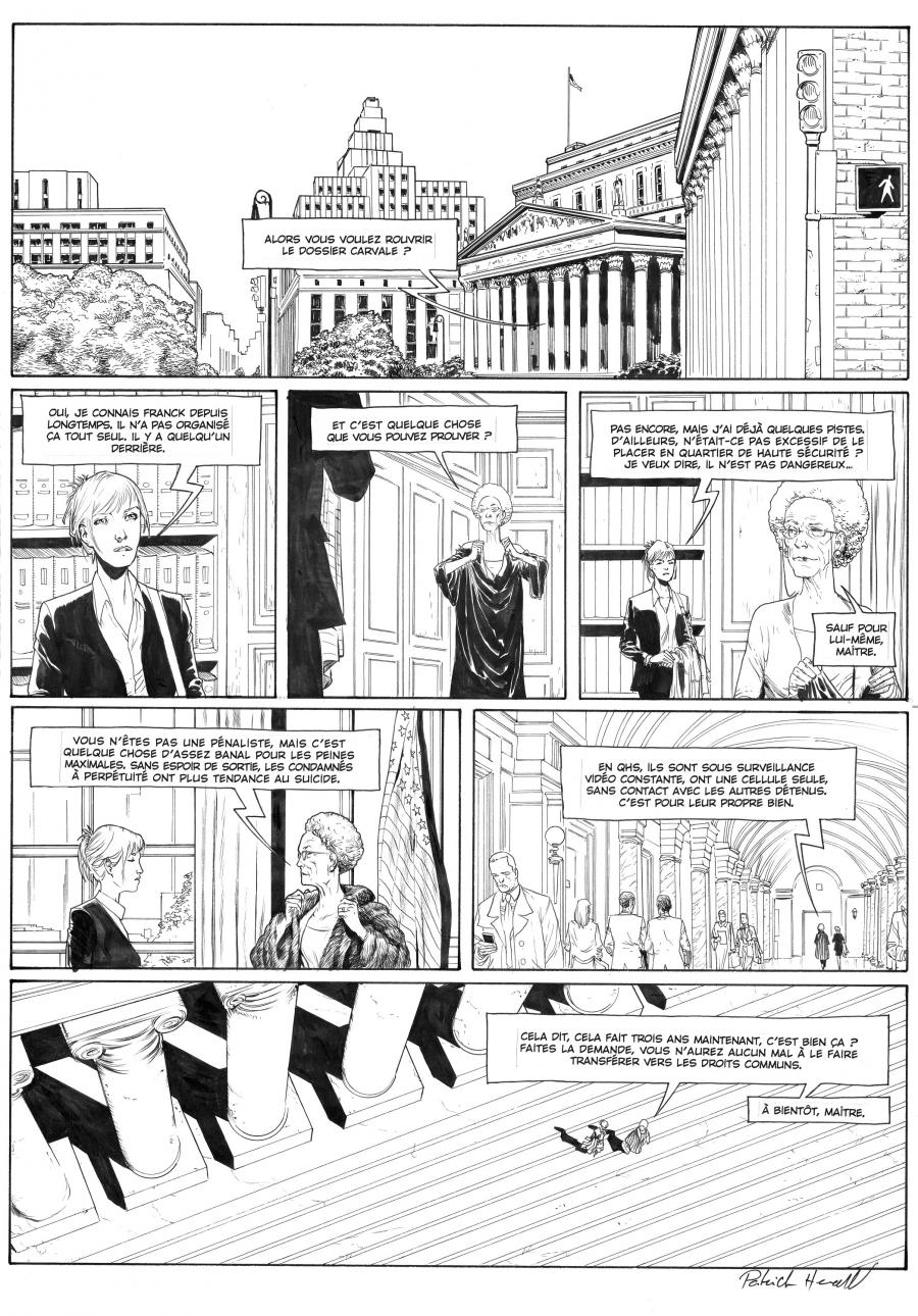 Original comic page 16  Issue 3 by Patrick Henaff