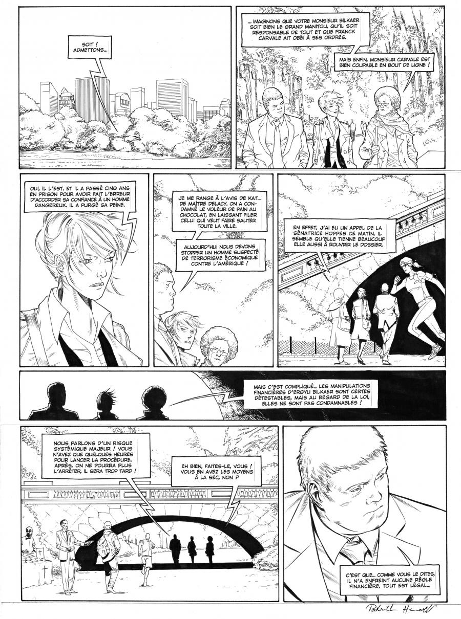 Original comic page 47  Issue 3 by Patrick Henaff