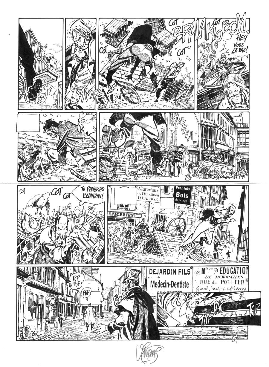 VINCENT's Original comics page 19 from CHIMERE(S) 1887 issue 3