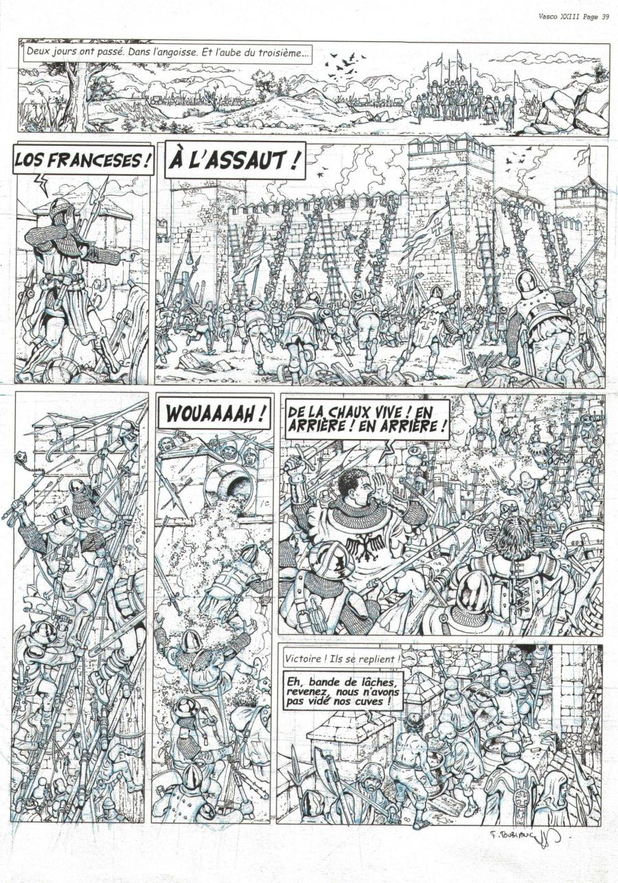 Original  comic page 39 Issue 23 VASCO la mort blanche by Frédéric TOUBLANC