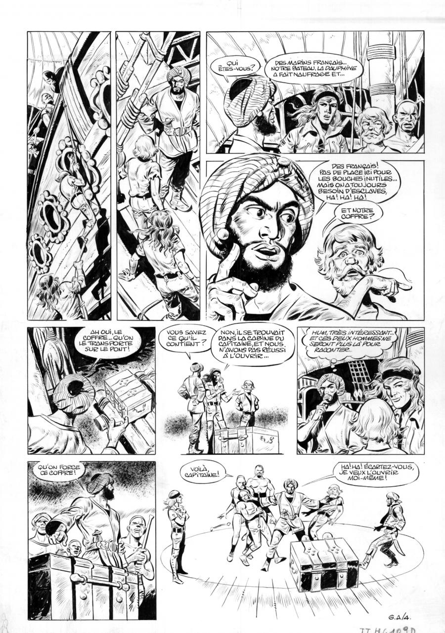 Original comic page GA4 of Yorik by Eddy PAAPE