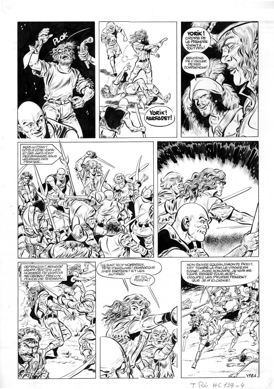 Original comic page YPG4 bis of Yorik by Eddy PAAPE