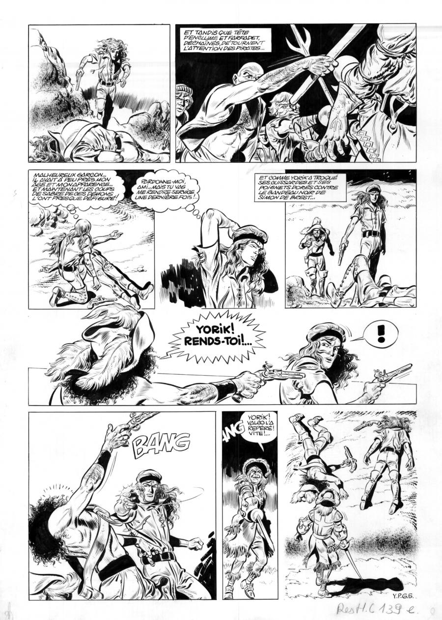 Original Comics illustration, Napoleon Gallery : YORIK - Original comic page YPG5 of Yorik by Eddy PAAPE - YPG5