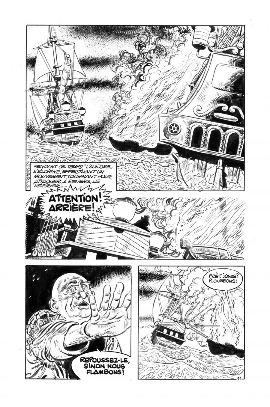Original comic page 11 of Yorik by Eddy PAAP