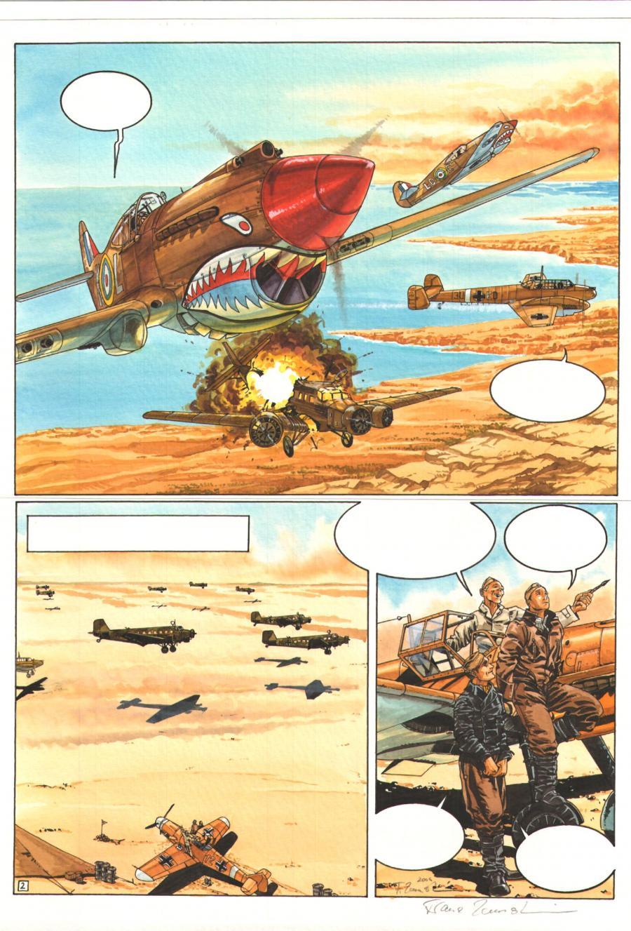 Planche originale de bande dessin e s rie le faucon du desert - Planche a decouper originale ...