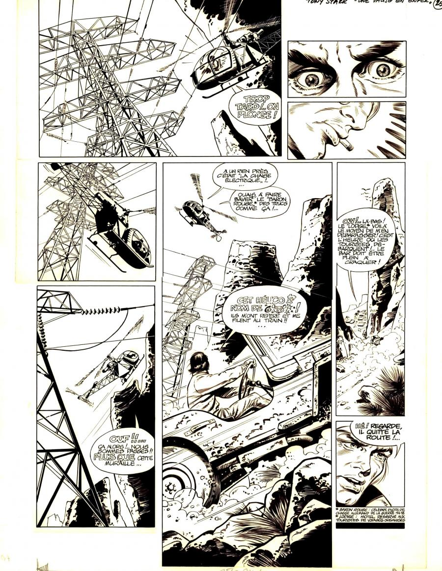 Edouard AIDAN 's original comic art TONY STARK issue 1 original comic page 25