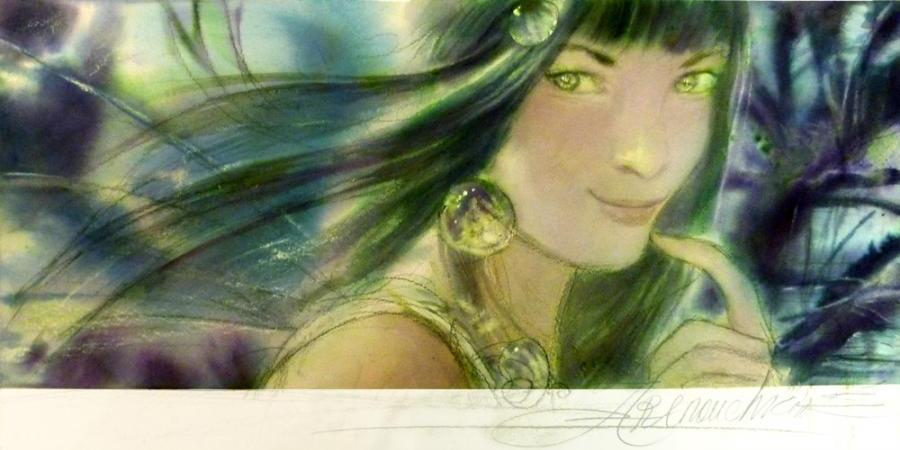 ARINOUCHKINE's original illustration Fairy with green hair