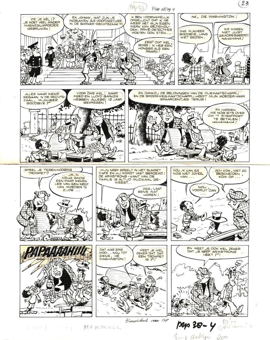 Planche originale 23 de JOHNNY GOODBYE tome 4