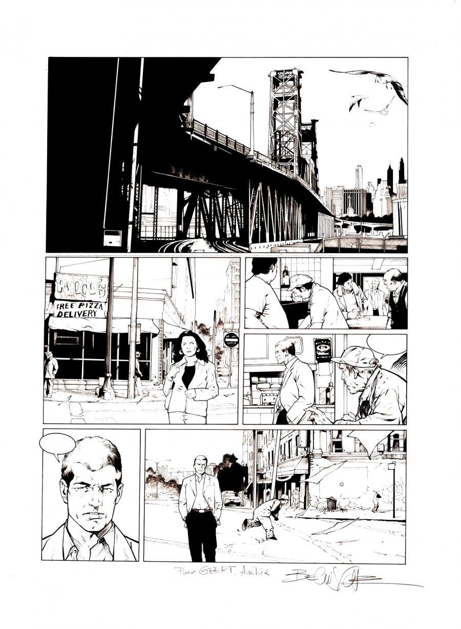 original try page for XIII comic series